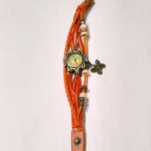 Women Butterfly Charm Bracelet Watch